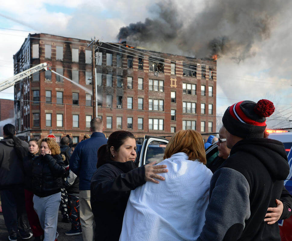 Apartment building blaze kills 3, including woman who jumped