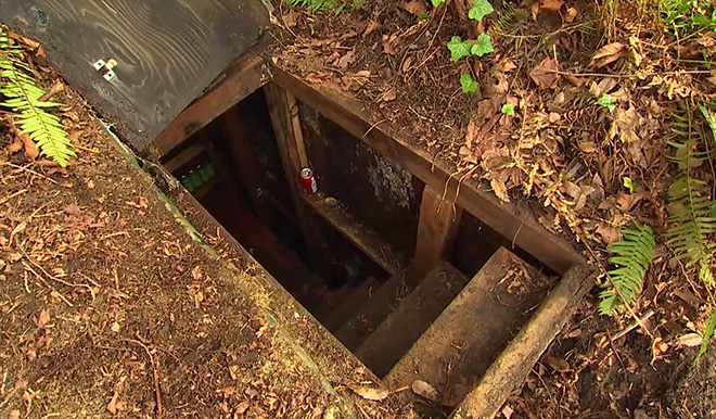 Natural Bug Out Shelter : Underground bunker of convicted bank robber discovered by
