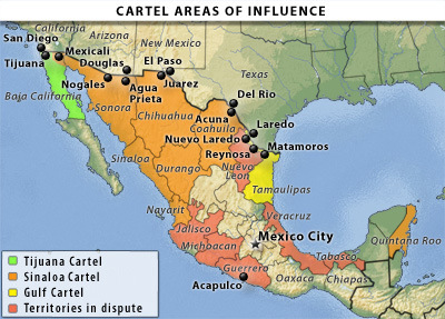 Cartel Map on